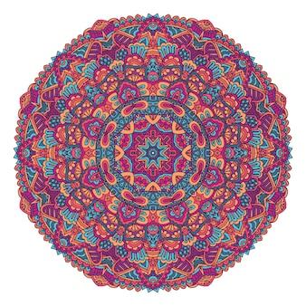 Indiase bloemen paisley ornament etnische mandala bloemenprint