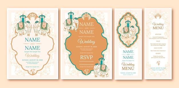 Indiase bruiloft briefpapier collectie