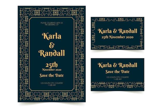 Indiase bruiloft briefpapier concept