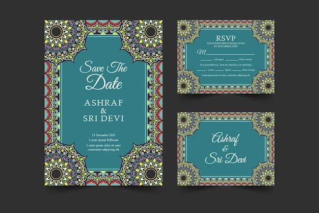 Indiase bruiloft briefpapier sjabloon