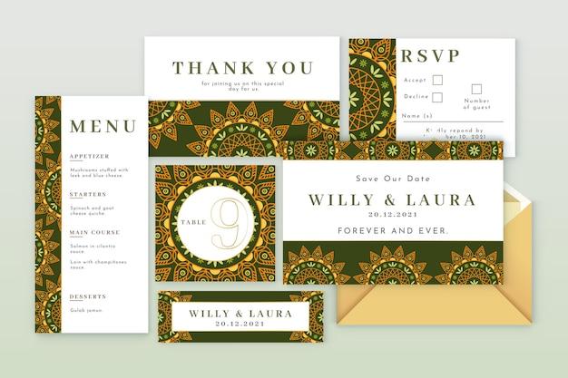 Indiase bruiloft briefpapier