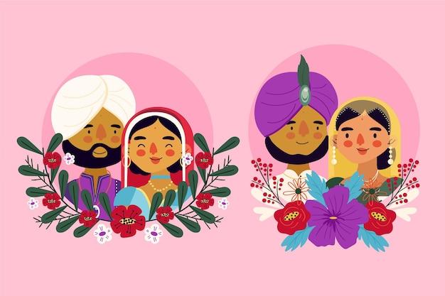 Indiase bruiloftskarakters