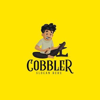 Indiase cool schoenmaker mascotte logo sjabloon