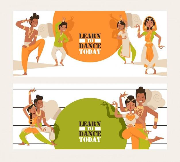 Indiase dansende school uitnodiging banner