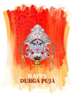 Indiase festival gelukkige durga puja viering achtergrond