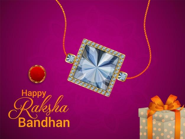 Indiase festival gelukkige rakhi vieringwenskaart of banner