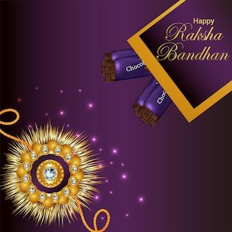 Indiase festival gelukkige raksha bandhan viering wenskaart