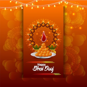 Indiase festival happy bhai dooj wenskaart
