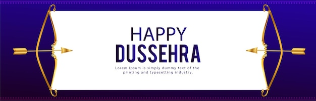 Indiase festival happy dussehra viering banner