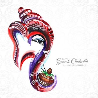 Indiase festival happy ganesh chaturthi viering kaart achtergrond