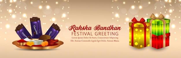 Indiase festival happy rakhi viering banner