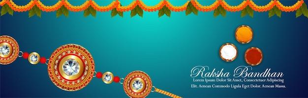 Indiase festival happy raksha bandhan het festival van broer en zus
