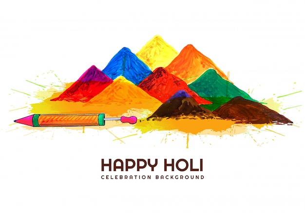 Indiase festival holi vieringen kaart