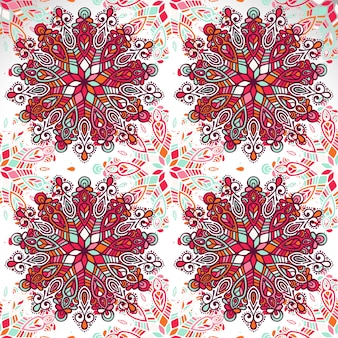 Indiase floral paisley medaillon patroon