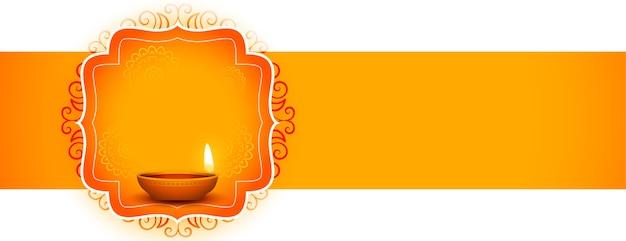 Indiase gelukkige diwali festival decoratieve banner