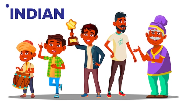 Indiase generatie mannelijke mensen