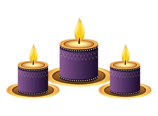 Indiase kaarsen decoratie