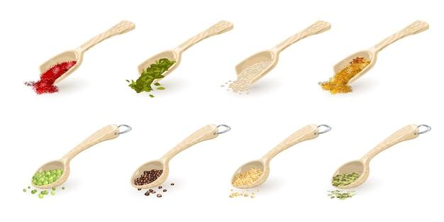 Indiase kruiden, sesam, korianderzaad, kardemom, saffraan, doperwtjes, zwarte peper, dragon.