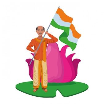 Indiase man avatar stripfiguur