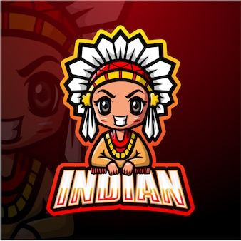 Indiase mascotte esport illustratie
