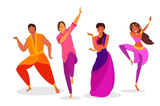 Indiase mensen dansen bollywood