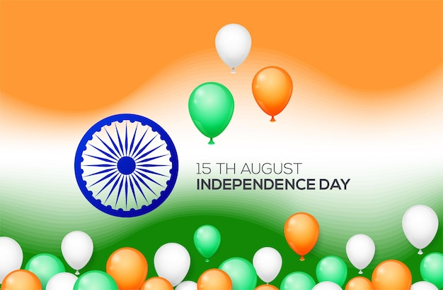 Indiase onafhankelijkheidsdag concept met ballonnen.