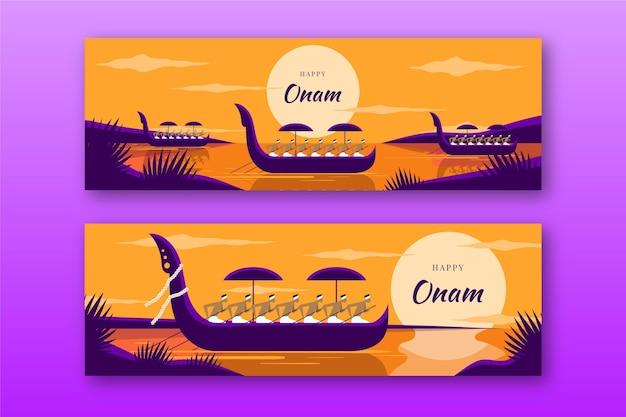 Indiase onam banners set