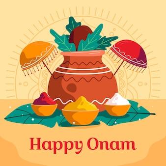 Indiase onam-illustratie