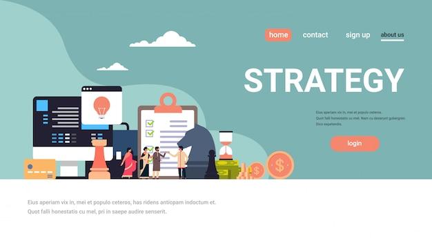 Indiase ondernemers brainstormen zakelijke tactiek strategie concept