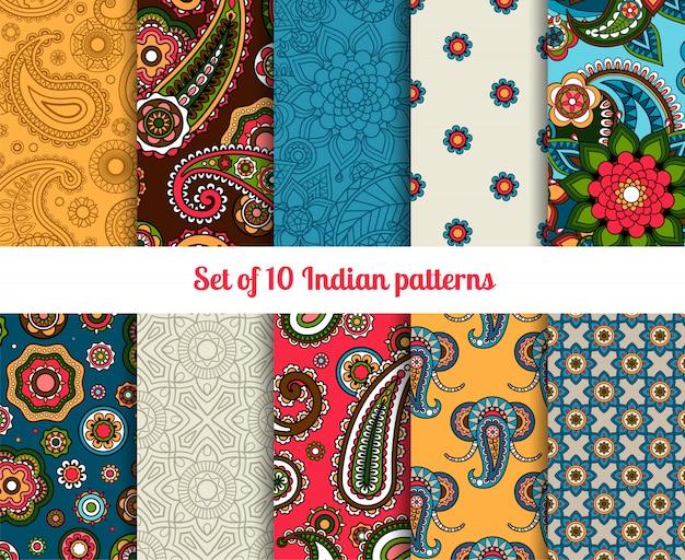 Indiase patroon ingesteld