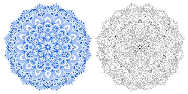 Indiase patroon. mandala.