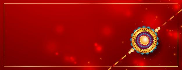 Indiase raksha banshan festivalkaart in rode glanzende stijl
