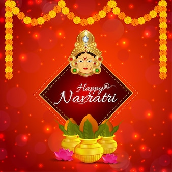 Indiase religie festival gelukkige navratri viering wenskaart