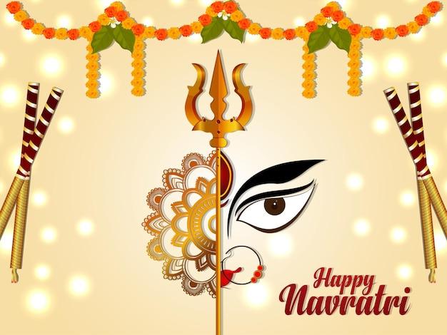 Indiase religieuze festival happy navratri viering achtergrond