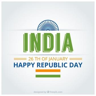Indiase republiek dag achtergrond met groene informatie