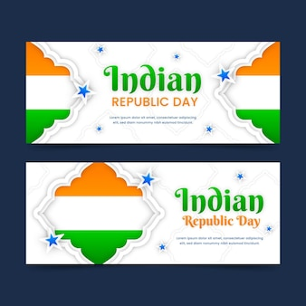 Indiase republiek dag banners sjabloon