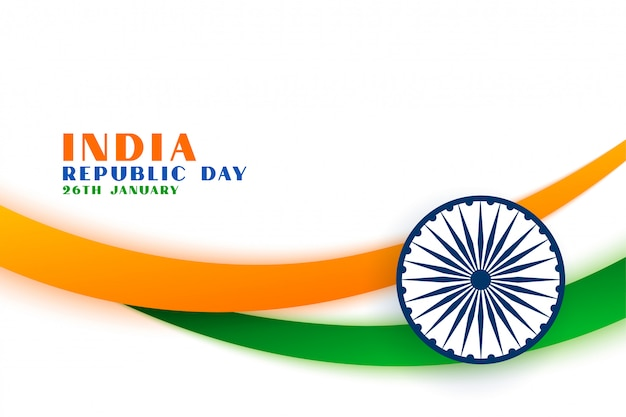 Indiase republiek dag tri kleur vlag