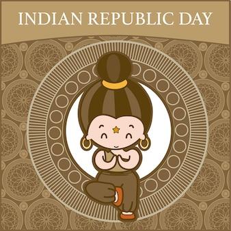 Indiase republiek illustratie