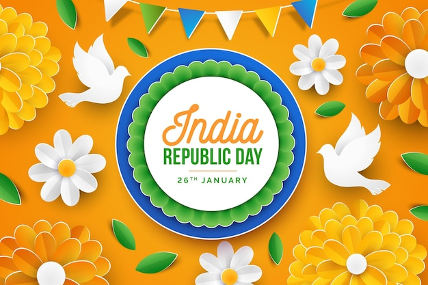 Indiase republiekdag in papieren stijl