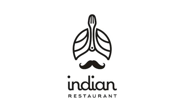 Indiase restaurant logo ontwerp inspiratie