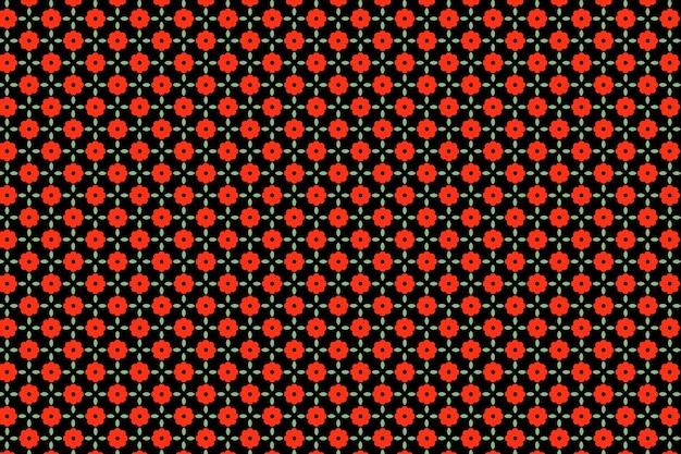 Indiase rode bloemen naadloze patroon achtergrond