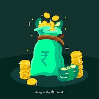 Indiase roepie geld tas