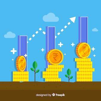 Indiase roepie investeringen concept