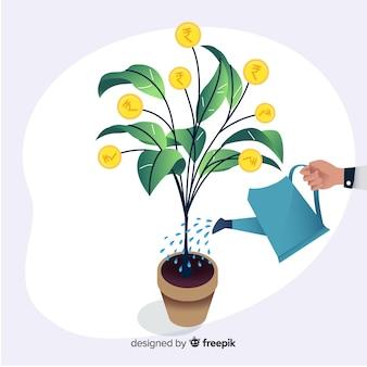 Indiase roepie plant