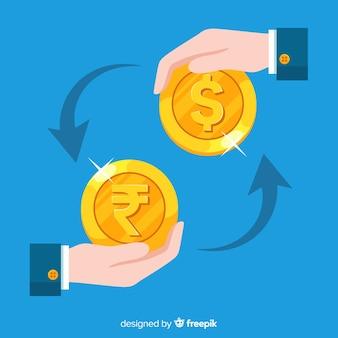 Indiase roepie wisselkantoor