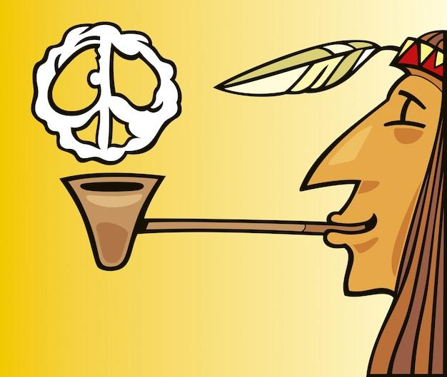 Indiase rookpijp van vrede