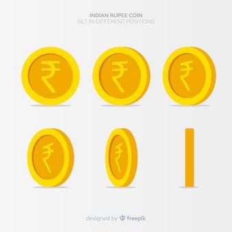 Indiase rupees muntset