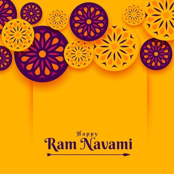 Indiase stijl ram navami festival achtergrond