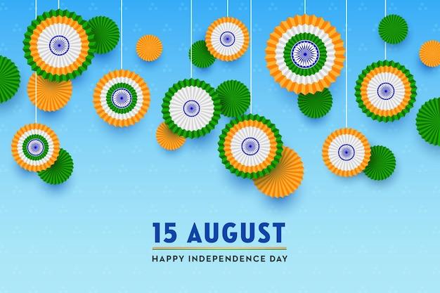 Indiase vlag gelukkige onafhankelijkheidsdag 15 augustus