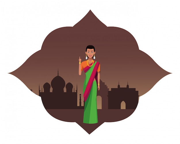 Indiase vrouw avatar stripfiguur